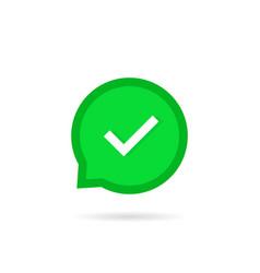Check bubble or okey v tick icon vector