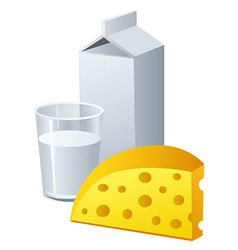 cheese and milk vector image