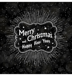Christmas vintage black background vector