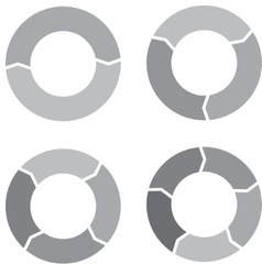 Circle chart set gray vector image
