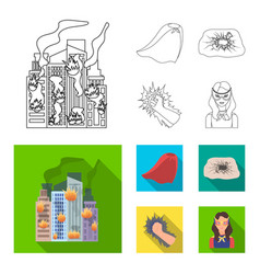 cloak red clothes and other web icon in flat vector image
