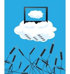 Cloudy technologies vector