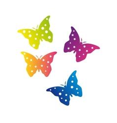 Color butterflies vector
