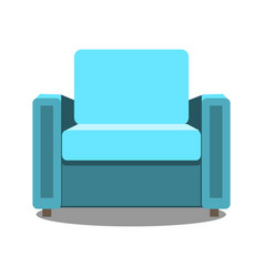 colorful armchair icon for your design flat vector image