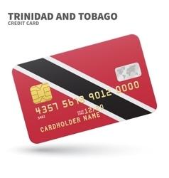 Credit card with Trinidad and Tobago flag vector