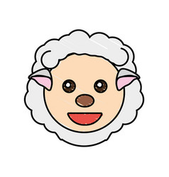 cute sheep drawing animal vector image