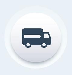 delivery icon van transportation symbol vector image