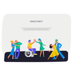 Different people dancing vector