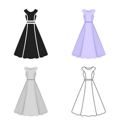 Dress icon for web and vector