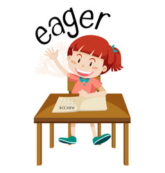 English vocabulary of eager vector