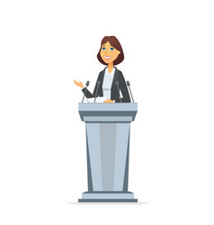 female politician - cartoon people character vector image