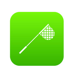 fishing net icon digital green vector image