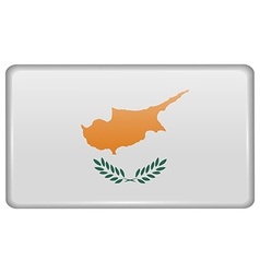 Flags Cyprus in the form of a magnet on vector