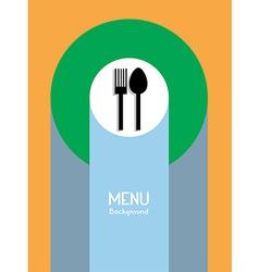 Food Menu Background vector image