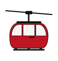 Funicular or cable car icon image vector