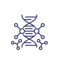 genetic engineering and dna modification line icon vector image