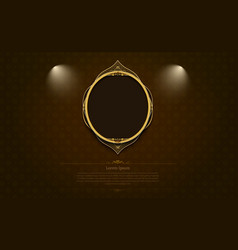 Gold frame border picture and pattern thai art vector