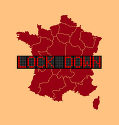 Graphic france lockdown vector