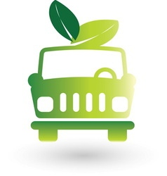 Green car resize vector image