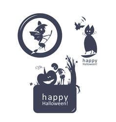 Halloween funny sign vector