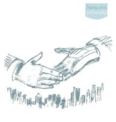 Handshake businessmen success partnership vector