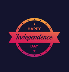 happy independence day poster design vector image