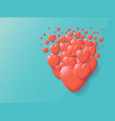 heart vintage grunge background vector image