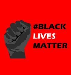 I can not breathe black lives matter vector