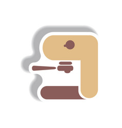 In paper sticker style coffee vector