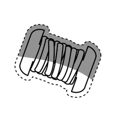 Isolated sewing thread vector