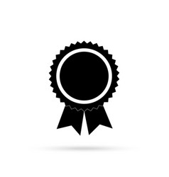 medal with black ribbons vector image