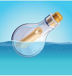 Message in bottle vector