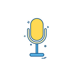 mike recorder sound voice icon design vector image