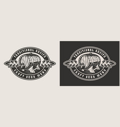 monochrome brewery badge vector image
