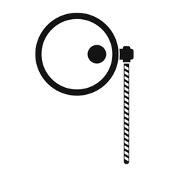 Monocle icon simple style vector