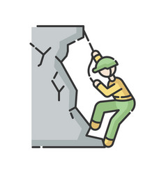 mountaineering rgb color icon vector image