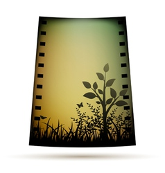 Negative film with landscare vector image