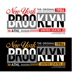 new york brooklyn for t-shirt and apparels vector image