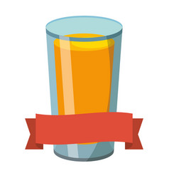 orange juice cartoon vector image