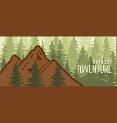 outdoor adventure mountain forest banner vector image