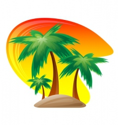 Palm island logo vector