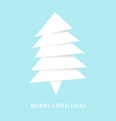 paper white christmas tree from pieces of paper vector image