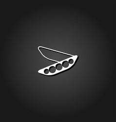 peas icon flat vector image