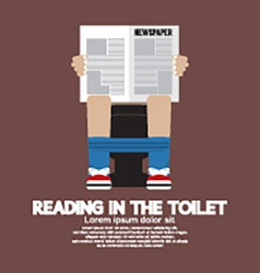 Reading in The Toilet vector image