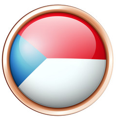 round badge design for czech republic vector image