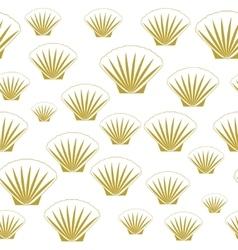 Seamless sea shells vector