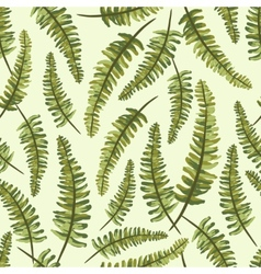 Seamless vintage pattern with painted leaves vector image