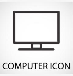 Simple computer icon vector
