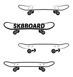 Skate board logo template vector