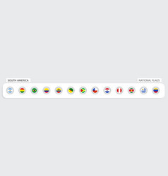 south america national flags vector image